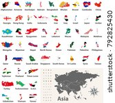 vector collection of asian... | Shutterstock .eps vector #792825430