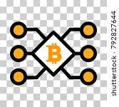 bitcoin pool nodes vector... | Shutterstock .eps vector #792827644