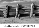 Wooden  Weathered Sea Defence...