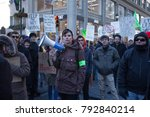 protestors advocating for net... | Shutterstock . vector #792840214