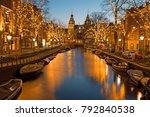 christmas time in amsterdam...   Shutterstock . vector #792840538