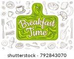 food poster print lettering....   Shutterstock .eps vector #792843070