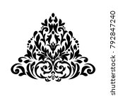 oriental pattern with damask ... | Shutterstock .eps vector #792847240