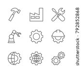 manufacturing outline icons | Shutterstock .eps vector #792852868