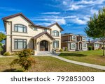a perfect neighborhood. houses... | Shutterstock . vector #792853003
