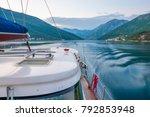 A Luxury Yacht Sails Through...