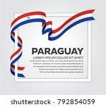 paraguay flag background | Shutterstock .eps vector #792854059