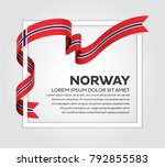norway flag background | Shutterstock .eps vector #792855583