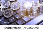 double exposure of uk stock... | Shutterstock . vector #792859090
