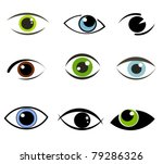 collection of eyes icons and...