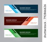 abstract modern banner... | Shutterstock .eps vector #792866626