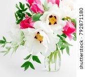 beautiful bouquet of white... | Shutterstock . vector #792871180