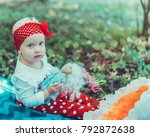 child walking in the park. | Shutterstock . vector #792872638