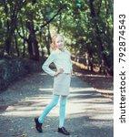 child walking in the park.   Shutterstock . vector #792874543