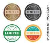 limited stamp tag set for shop... | Shutterstock .eps vector #792892294