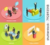 business learning isometric... | Shutterstock . vector #792893548