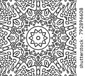coloring page for adults. a... | Shutterstock .eps vector #792896608