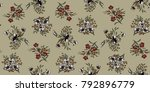 seamless floral pattern in... | Shutterstock .eps vector #792896779