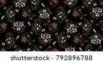 seamless floral pattern in... | Shutterstock .eps vector #792896788