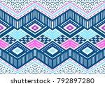 ikat geometric folklore... | Shutterstock .eps vector #792897280