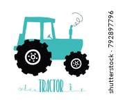 tractor illustration vector | Shutterstock .eps vector #792897796