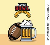 american football bowl... | Shutterstock .eps vector #792898870