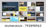 original presentation templates ... | Shutterstock .eps vector #792898963