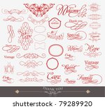illustration of set of vintage... | Shutterstock .eps vector #79289920