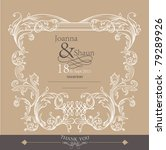 romantic card design  wedding...   Shutterstock .eps vector #79289926