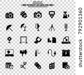 photography and camera icon set....