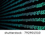 Small photo of Sequencing the genome. Background on the subject of DNA sequencing, symbols of nucleotide bases on the dark.