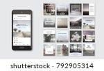 editable simple corporate posts ... | Shutterstock .eps vector #792905314