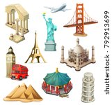 travel  tourist attraction. 3d...