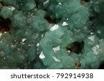 Small photo of Goethite with Light green Adamite Crystals , from Kamariza, Laurion, Greece
