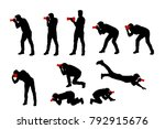 photographer set silhouette | Shutterstock .eps vector #792915676