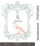 vintage frame with bird   Shutterstock .eps vector #79291603