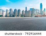 road ground and chongqing urban ... | Shutterstock . vector #792916444