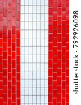 red vertical tiles on the... | Shutterstock . vector #792926098