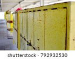 picture of yellow old steel... | Shutterstock . vector #792932530