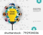 business concepts for analysis... | Shutterstock .eps vector #792934036