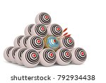 the round targets with arrows... | Shutterstock . vector #792934438