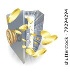 illustration of a safe with... | Shutterstock .eps vector #79294294