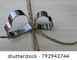 double silver heart give your... | Shutterstock . vector #792943744