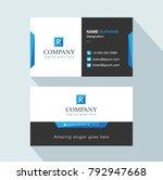 modern creative business card... | Shutterstock .eps vector #792947668