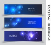 abstract banners set technology.... | Shutterstock .eps vector #792951736