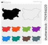 bulgaria high detailed map.... | Shutterstock .eps vector #792956020