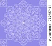 seamless pattern with mandala... | Shutterstock .eps vector #792957484