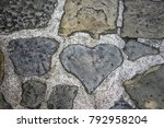heart shaped step stone ... | Shutterstock . vector #792958204