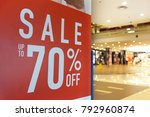 large sale 70  off letters on... | Shutterstock . vector #792960874