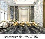 3d rendering yellow chair in...   Shutterstock . vector #792964570